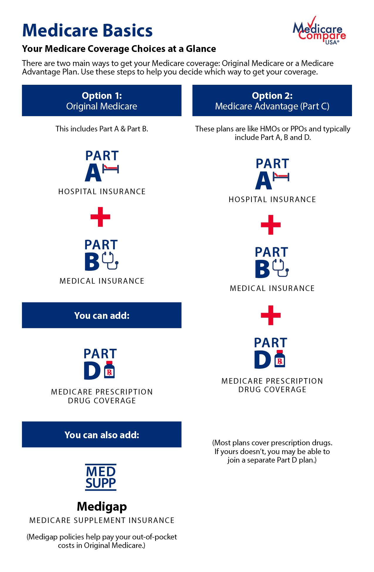 Medicare Basics Options chart